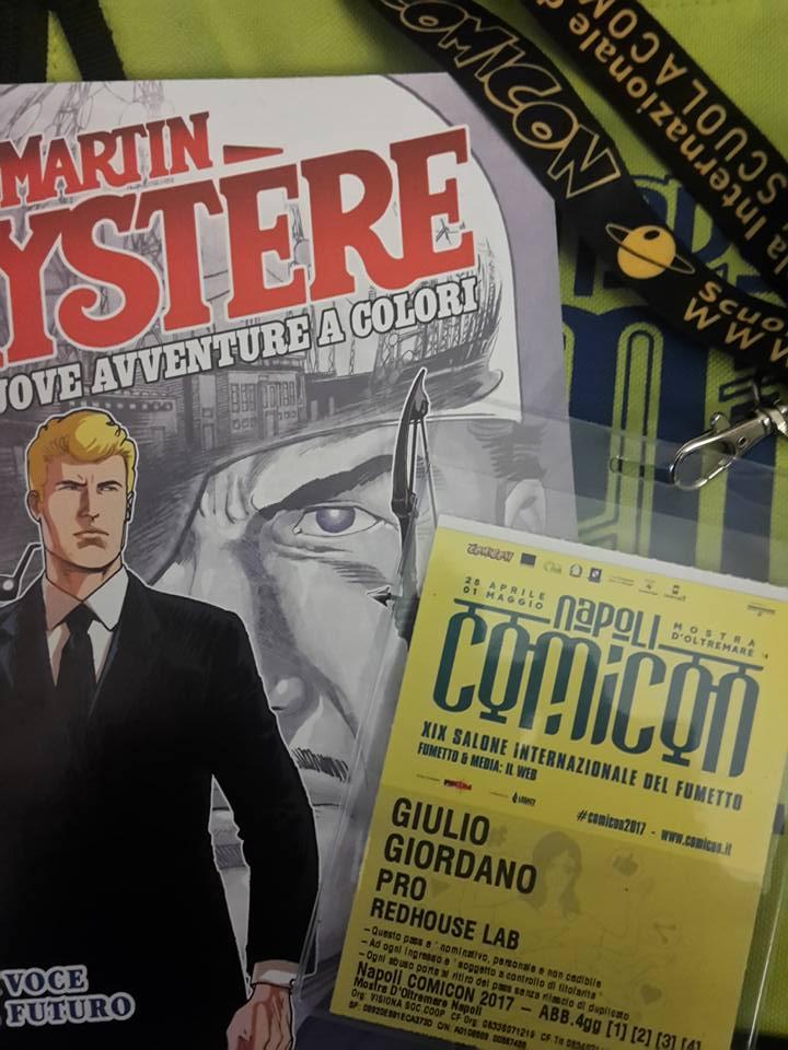Presentazione Martin Mystere le nuove avventure a colori al Napoli Comicon